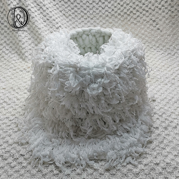 Don&Judy Hand Crochet Round Diameter 50cm Blanket + Basket +150x100cm Backdrop Background Set for Newborn Photography Baby Prop
