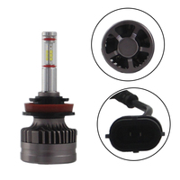 white car SHUOKE H8 H9 H11 LED Car Headlight LED H8 H9 H111 Auto Lamps 12V 6000K Cold White Light Automobiles Bulb with Canbus Fans (5)