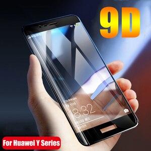 2шт 9D полное клей Защитное стекло для Huawei Y7 2017 Y6 Y5 Prime Y9 2018 закаленное стекло на Huawey Enjoy 7s 7 8 защитная пленка