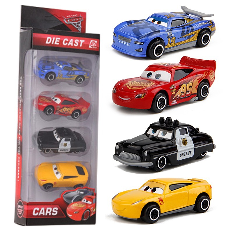 7PCS/Set Disney Pixar Car 3 Lightning McQueen Jackson Storm Mack Uncle Truck 1:55 Diecast Metal Car Model Toy Boy Christmas Gift 4