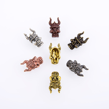 10PCS/package Diy Jewelry Indian Masks Skull Charm Beads Bracelet For Making Accessories