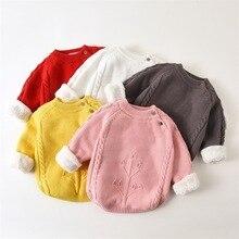 BibiCola/свитера для малышей; теплая одежда с героями мультфильмов; повседневные плотные топы с длинными рукавами для маленьких девочек; зимняя одежда для маленьких мальчиков; костюм
