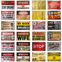 Bargain World Historic Route 66 Metal Novelty Parking Sign With Sticky Notes