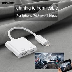 Cabo hdmi para iphone hdmi adaptador relâmpago para carro hdmi cabo para ipad iphone ios 1080 p hdmi cabo conectar digital hd av para tv