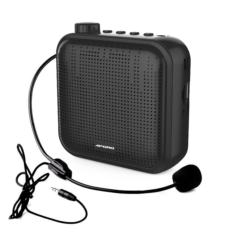 New 12W Wearable Megaphone 1200 MAh Portable Voice Amplifier for Teaching Promotion Tourist Guide Mini Wired Headset Microphone