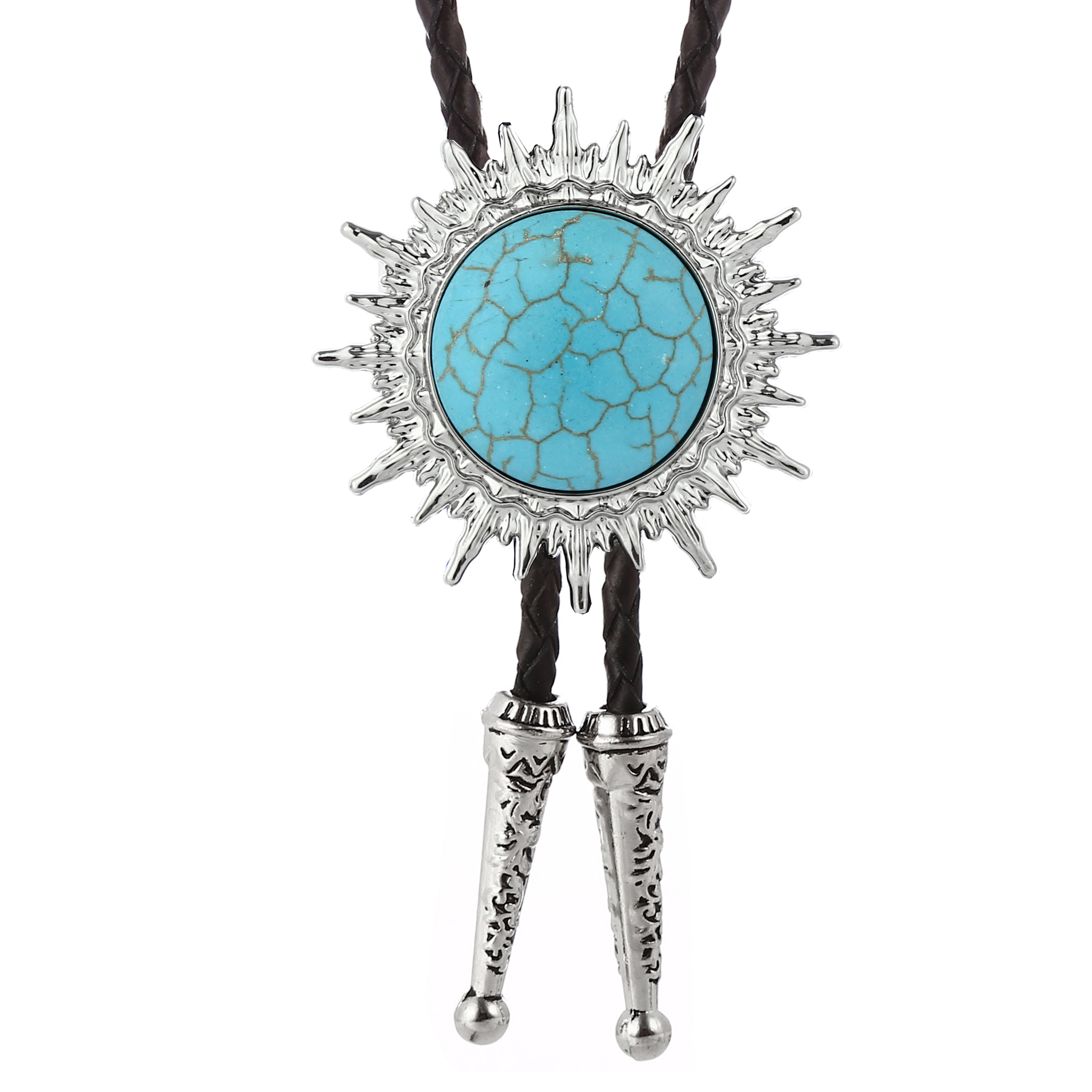 Solar System Natural Stone Metal Bolo Tie Wedding Gift Men's Fashion Accessories Women's Casual Necklace