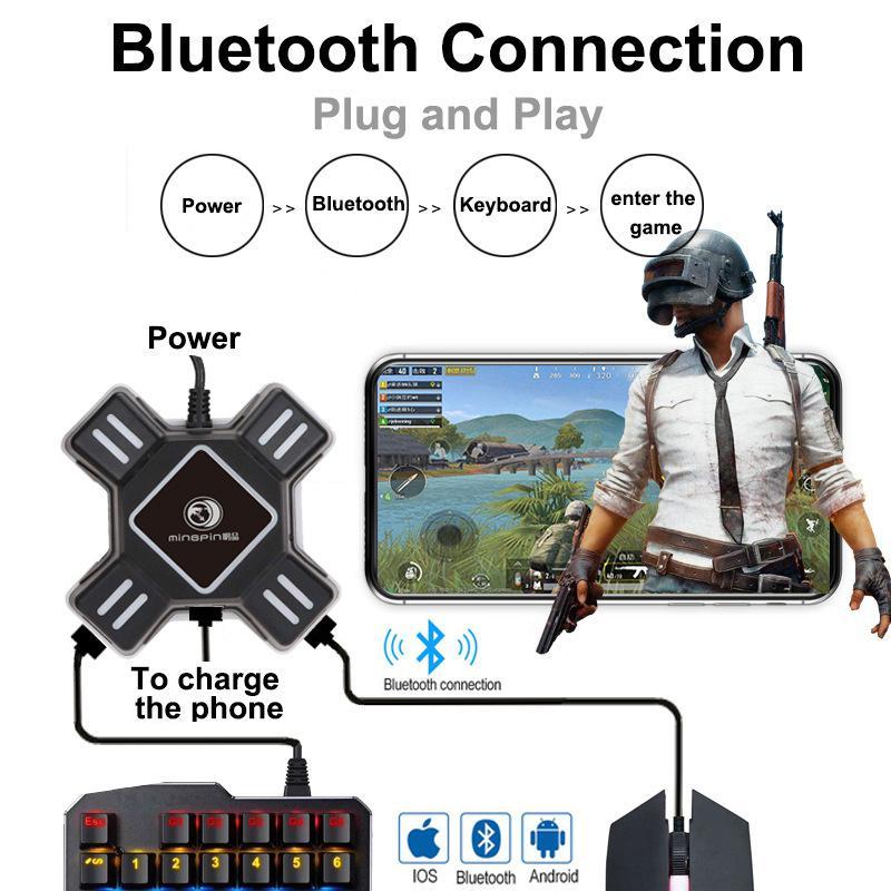 Mando de juegos móvil PUBG, teclado para juegos, conversor de ratón para Android Ios, teléfono a PC, Bluetooth 4,2, adaptador Plug and Play Versión Global Xiaomi negro tiburón 2 Pro 8GB 128GB juegos Smartphone Snapdragon 855 Plus de 6,39