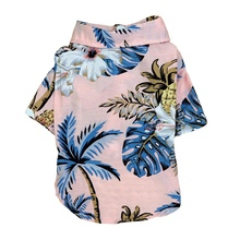 Leisure Style Summer Dog Shirt Chiffon Puppy Vest Coconut Tree Beach Pet Clothes Breathable Cool For Small Kedium Dogs M beach style dusk coconut tree pattern square shape pillowcase