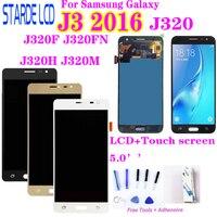 Amoled lcd SM-J320FN/f/m/h/ds  para samsung j3 2016 j320 j3 2015 j300 lcd tela sensível ao toque j320f j320fn j320h j320m j3