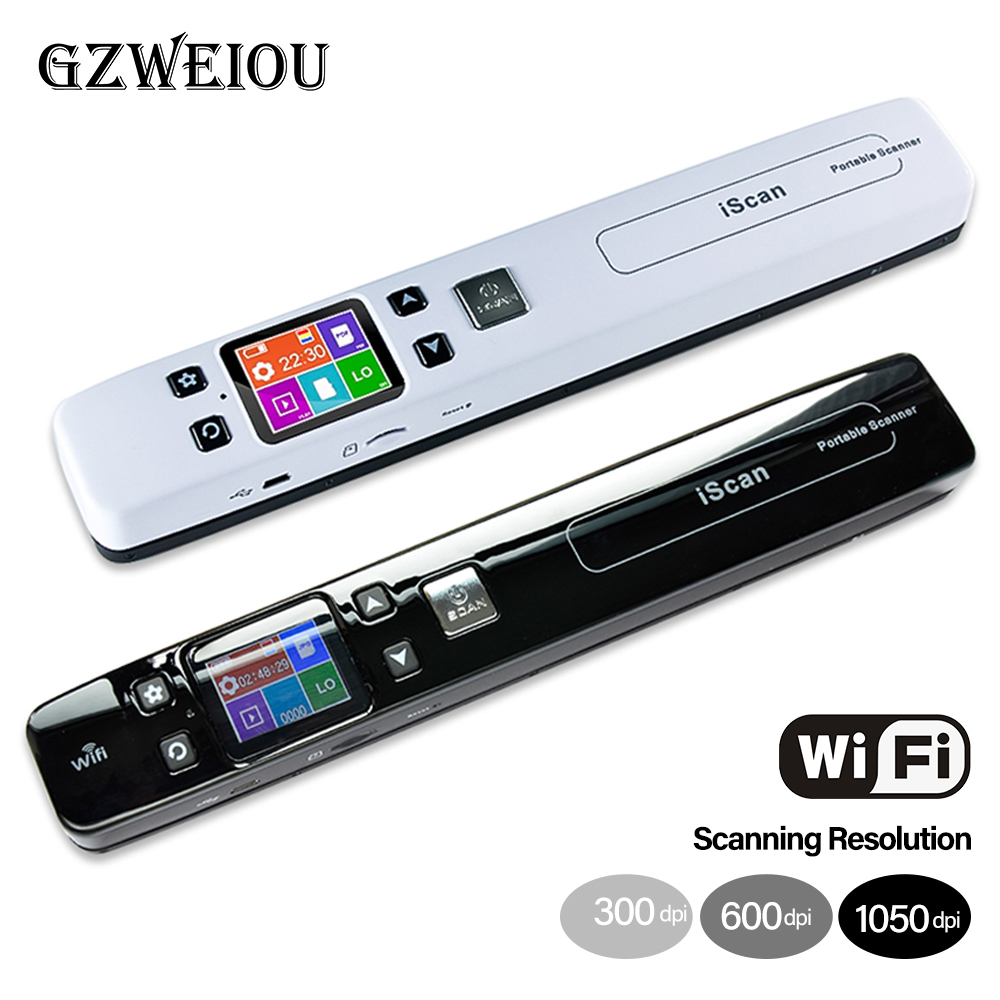 Images-Scanner Document Lcd-Display Business-Receipts Wifi Mini A4-Size Portable -Photo title=
