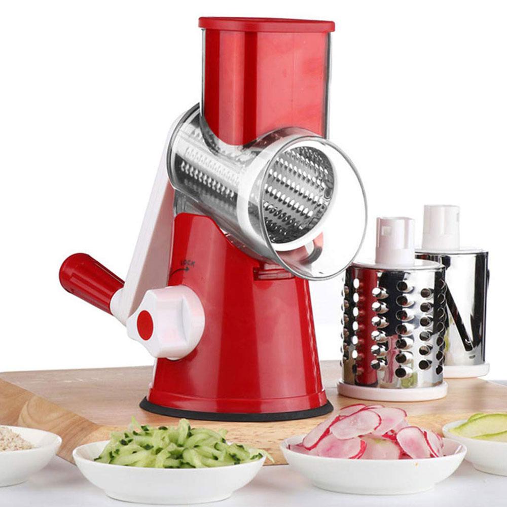 3 In1 Multifunktionale Runde Mandoline Slicer Manuelle Gemüse Cutter Slicer Gemüse Spiralizer Kartoffel Slicer Küche Gadgets