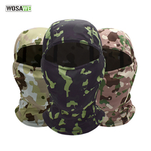 WOSAWE Camouflage Cycling Balaclava Full Face Mask Hunting Army Bike Military Helmet Liner Motorcycle Tactical Airsoft Cap