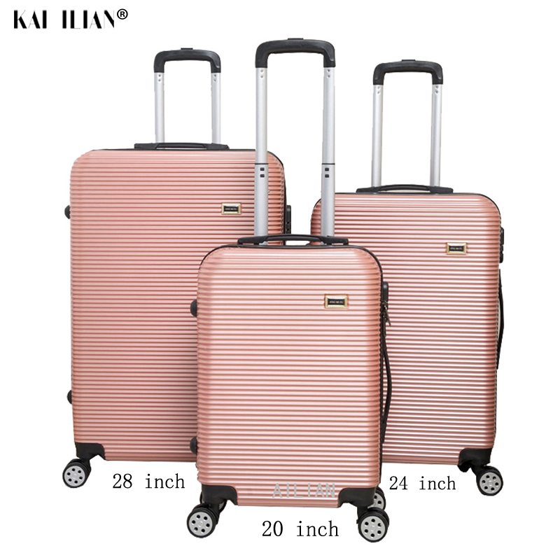 New 3pcs 20/24/28 Inch Rolling Luggage Set Sipnner Wheels ABS+PC Women Travel Suitcase Cabin Carry-on Trolley Box Luggage