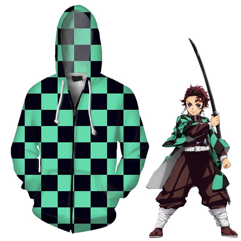 Image 3 - Anime Demon Slayer Kimetsu No Yaiba Tanjiro Kamado Nezuko Cosplay Costume Hoodies Plus Size Jackets Halloween Party Women HS018Anime Costumes   -