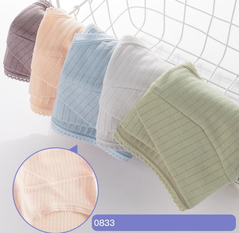 5Pcs Lot Cotton lace side pregnant women 39 s underwear Low waist maternity panties Pregnant women low waist briefs