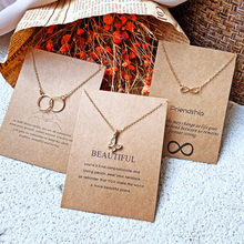 Modyle Love Gold Color Crystal Butterfly Pendant Necklaces Clavicle Chains Fashion Necklace Women Jewelry