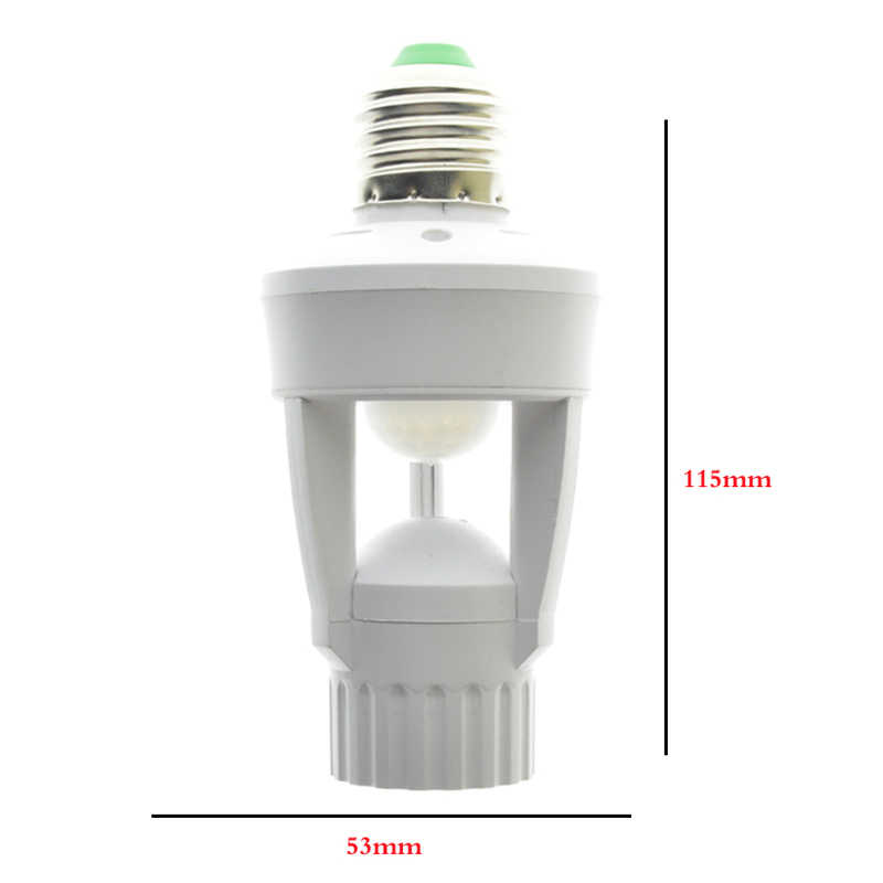 IG-AC 110-220 فولت 360 درجة Pir التعريفي محس حركة الأشعة تحت الحمراء الإنسان E27 التوصيل المقبس التبديل قاعدة Led لمبة مصباح حامل