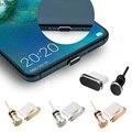 Набор заглушек от пыли для телефона Type-C, USB порт Type-C и разъем для наушников 3,5 мм для Samsung Galaxy S8 S9 Plus, Huawei P10 P20 lite