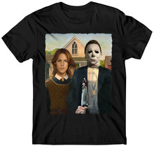 Michael Myers t-shirt American Gothic Horror Movie Halloween Haddonfield american gothic