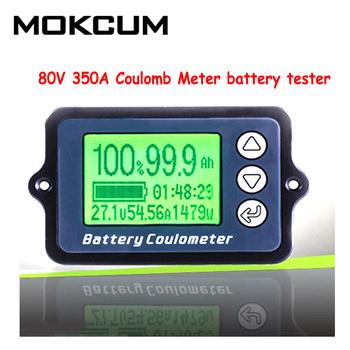 80V 350A Coulomb miernik tester baterii tester pojemności baterii Coulometer wskaźnik poziomu mocy wskaźnik pojemności baterii litowej tanie i dobre opinie MOKCUM Elektryczne TK15 Tester Akumulatora pojazdu 0 5m Battery tester DC8-80V 350A 100A 50A 66x40x10mm 32x23mm 23x18x5m