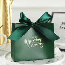 25pc אדום/ירוק/ורוד נייר לטובת מתנות סוכריות שקיות חתונה טקס Decoratin חתונה ספקי צד