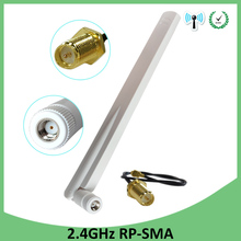 10pcs 2.4GHz Antenna wifi 8dBi RP-SMA Male Connector wi fi 2.4 ghz antena white antenne+SMA Male to ufl./ IPX 1.13 Pigtail Cable 5 pieces kit 17cm extension cord ufl to rp sma connector antenna wifi pigtail cable ipx to rp sma jack male sma to ipx 1 13