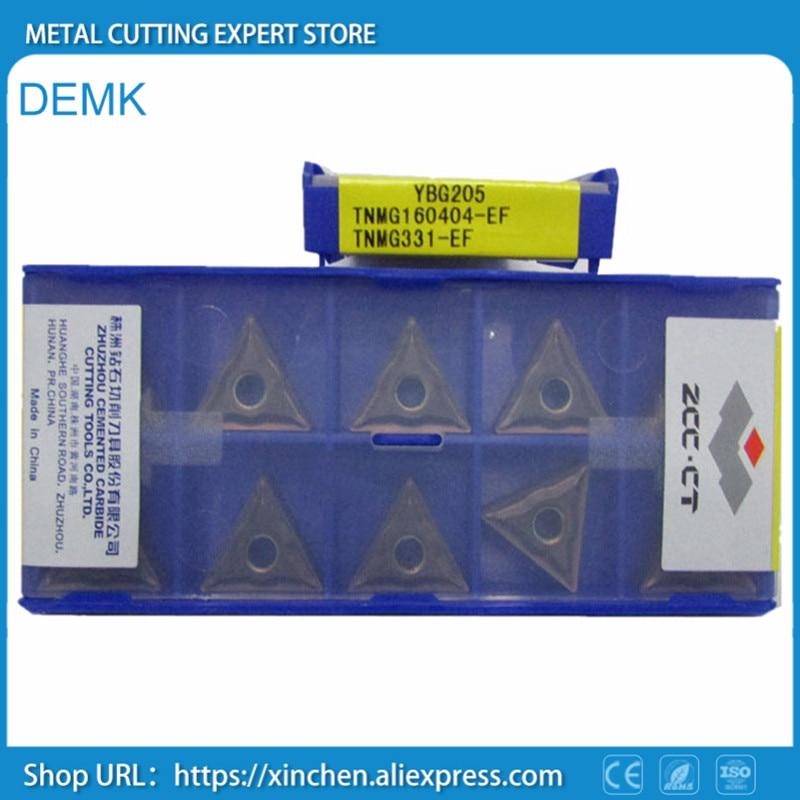 Knife Free Shipping TNMG160404-EF YBG205/TNMG160408 ZCC.CT Mechanical Lathe Carbide Blade Insertion External Cutting CNC 10pcs