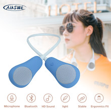 AIKSWE Neck Bluetooth Speaker Wearable Wireless Bass Surround Stereo Sound Hands-Free With Microphone Outdoor Sports Speaker