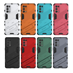 Image 2 - For Oppo Reno5 Pro 5G Case Cover Shockproof Silicone Bumper Stand Holder Armor Hard Phone Back Cover For Reno 5 Pro 5G Casing