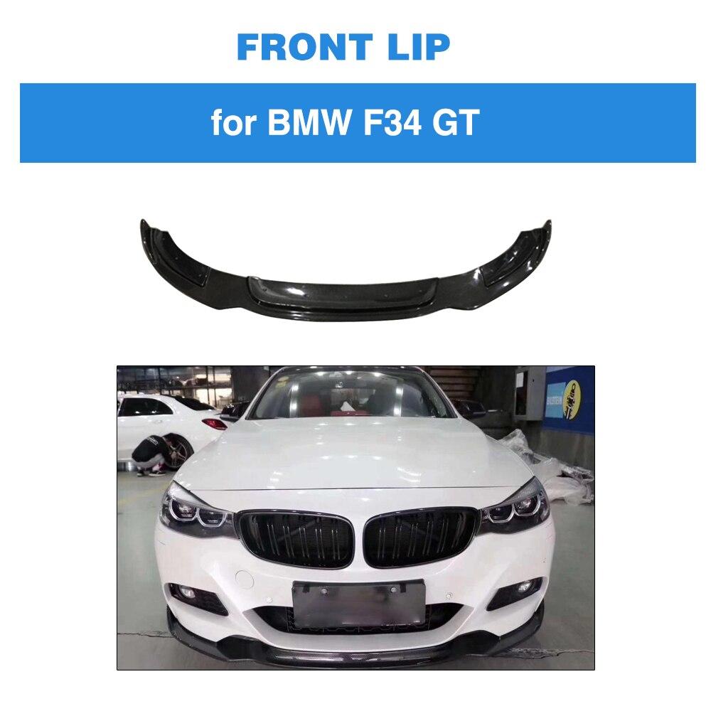Ailerons Canards Fins de pare-chocs avant pour BMW série 3 F34 GT M Sport 2014-2019 séparateurs de lèvre de pare-chocs avant en Fiber de carbone
