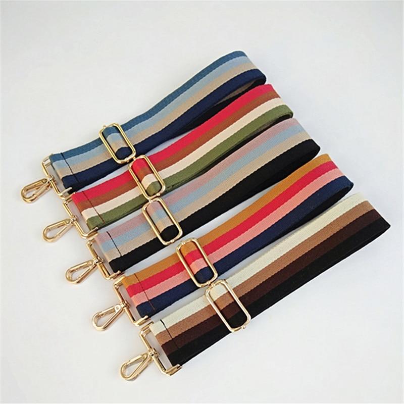Canvas Adjustable Nylon Lady Wide Bag Strap Chic Classical Female Shoulder Bag Belts Easy Matching Bags Obag Handles GIFT W230