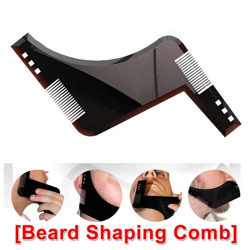 Men Beard Shaping Styling Template hair Comb Black Men s Beards Combs Beauty Tool for Beard