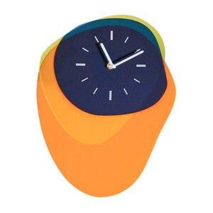 Креативные 3d настенные часы Современный дизайн Акриловые Тихая спальня детская комната настенные часы домашний деко Horloge росписи детский п...
