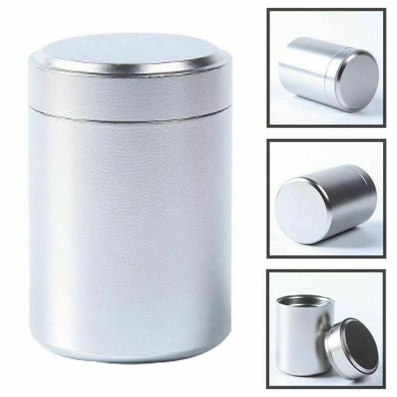 Metal selado pode hermético à prova de cheiro recipiente de alumínio herb stash chá jar pode muito quente cerâmica fumar tubulação erva moedor