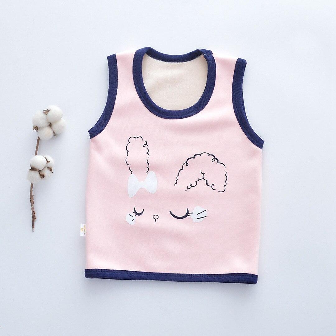 PPXX Winter Children Vest Fur Waistcoat Cartoon Warm Kid Jacket sleeveless Baby Girl Boy Toddler Children Clothing Casual 3