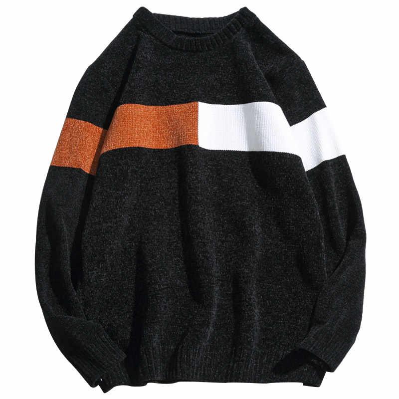 2020 neue Pullover Männer Lange Ärmel Herbst Winter Pullover Gestrickt Oansatz Plus Asiatische Größe 5XL
