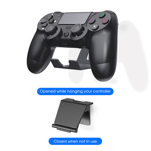 Image 3 - OIVO 2 Pack Wall Mount Game Controller Stand Holder for PS4 Controller Headphone Holder Universal Foldable Design Gamepad Holder