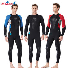 Men's One Piece 3MM Neoprene Diving Wetsuit Long Sleeve Elastic Warm Surfing Spearfishing Wet Suits Full Body Rashguard Suit(China)