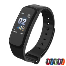 C1Plus Smart Bracelet Color Screen Blood Pressure Measure Sport Watch Fitness Tracker Band Heart Rate Monitor 1yw