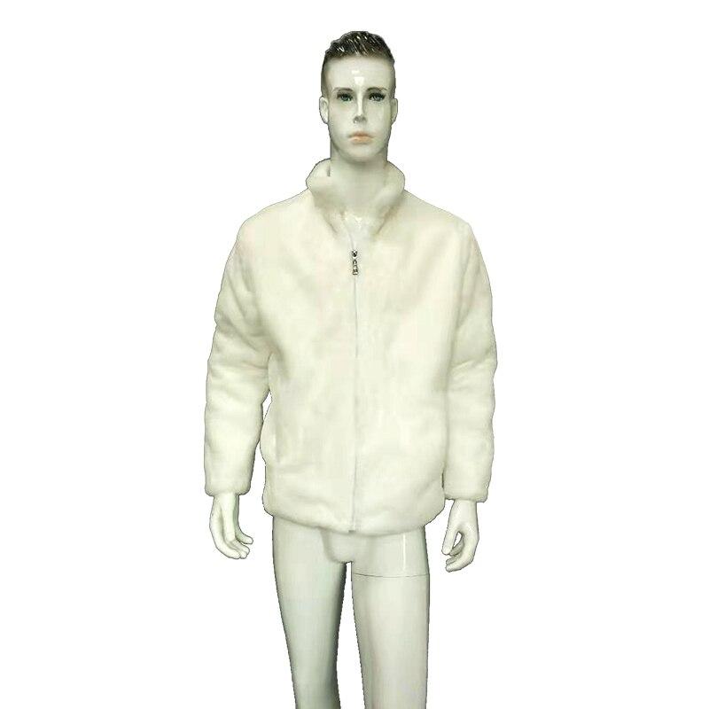 Einzigartige Licht Up LED Faux Pelz Jacke Mantel für Männer Lustig männer Stehen Kragen Faux Pelz LED Bühne Jacke mantel Plus Größe - 2
