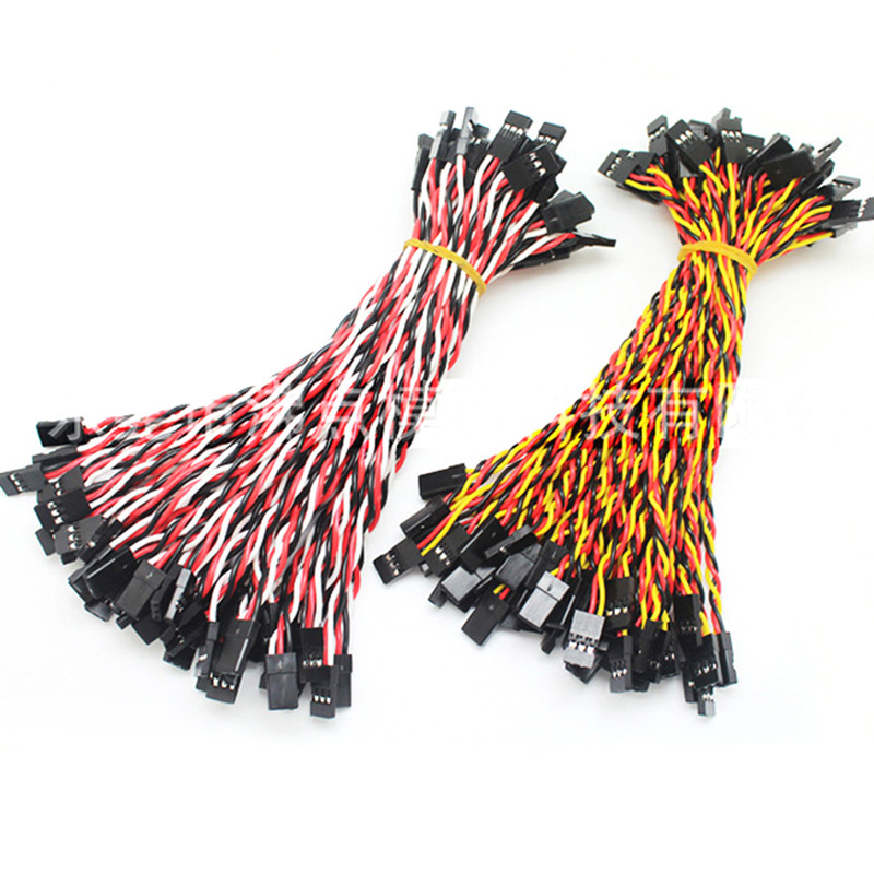 10pcs 10/15/30/50/100cm Servo Extension Cable 30 / 60coreFor Futaba JR Anti-interference Servo For RC Helicopter Part