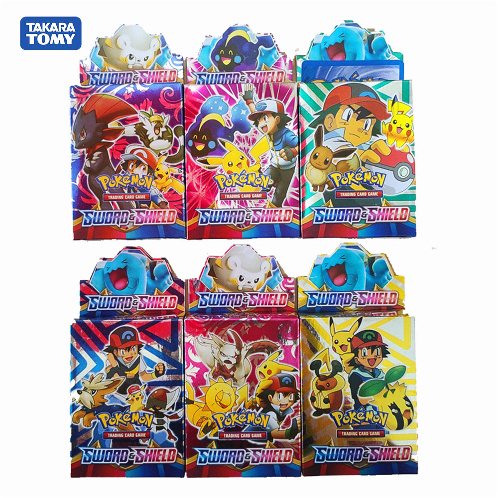 New 26pcs No Repeat Pokemon Cards TCG:SHIELD&SWORD Sealed Booster Box Trading Card Game Kids Hobby & Collectibles Collection Toy