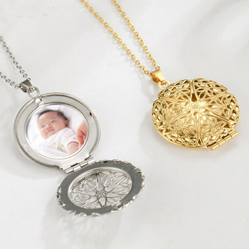 Photo Frame Filigree Personalized Custom Name Family Baby Pregnant Mother day Gift For Wife Gold Color Necklace Women Jewelry rose gold color family tree necklace mother s necklace with birthstone grandmas gift custom gift for mother