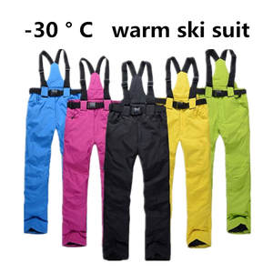 Snow-Trousers Outdoor Waterproof Winter High-Quality Women Ski Couple And Warm Brand