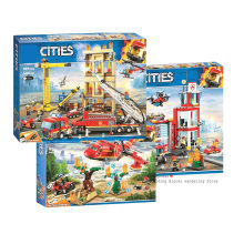2019 NEW 60110 Compatible Legoinglys City Series 60216 The Fire Station Model Building Block Brick Toy For Boy xmas Gift(China)