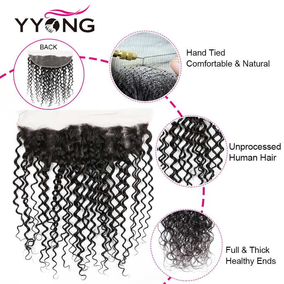 Yyong 13x4 Lace Frontal With Bundles 3/4 Piece   Water Wave  Bundle With Frontal Low Ratio Hair  6
