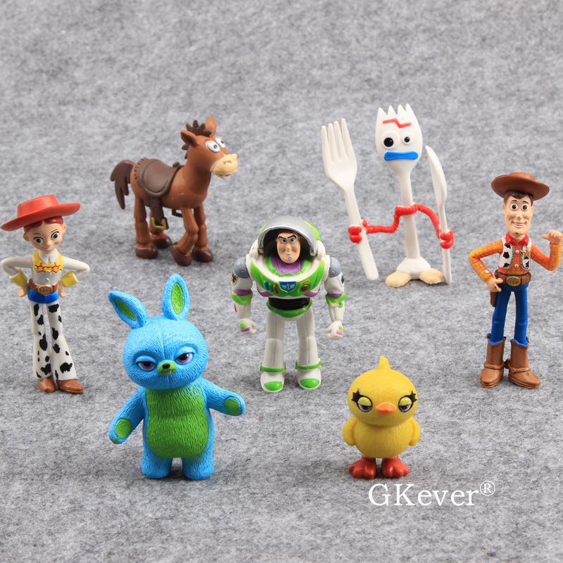 12pcs Toy Story Woody Jessie Rex Alien Hamm Buzz Figure Set Doll Cake Decor Toy