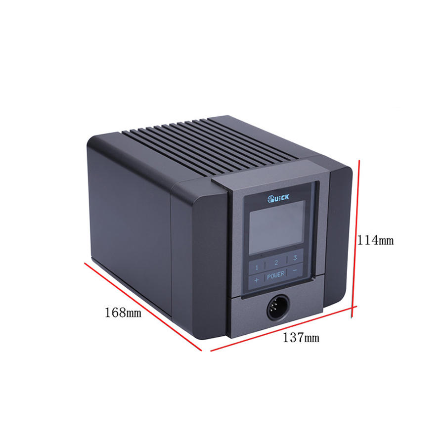 QUICK TS1200A Intelligent Hot Air Rework Station For Phone PCB Soldering Repair 220V EU Plug 5