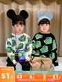 Хлопковый пуловер для мальчиков свитер с динозавром Новинка 2020 модная весенне-осенняя одежда для маленьких мальчиков