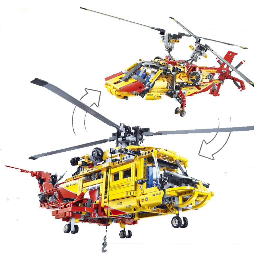 Новый 3357 Technic вертолет Строительные кирпичи блоки игрушки для детей игра автомобиль Формула 1 совместим с 9396